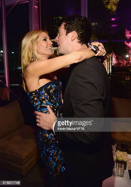 Heidi Klum and Vito Schnabel attend the 2016 Vanity Fair Oscar Party Hosted By Graydon Carter at the Wallis Annenberg Center for the Performing Arts...