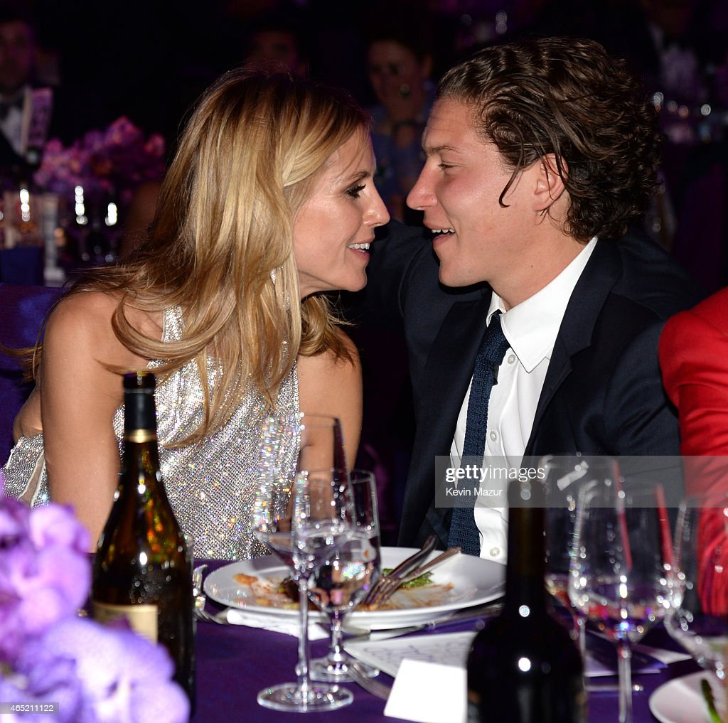 Heidi Klum and Vito Schnabel attend the 23rd Annual Elton John AIDS Foundation Academy Awards Viewing Party on February 22, 2015 in Los Angeles, California.