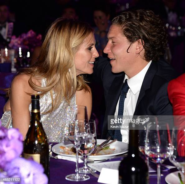 Heidi Klum and Vito Schnabel attend the 23rd Annual Elton John AIDS Foundation Academy Awards Viewing Party on February 22 2015 in Los Angeles...