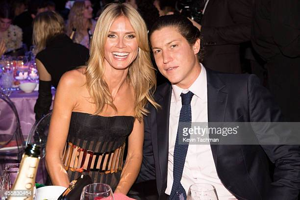 Heidi Klum and Vito Schnabel attend the amfAR Milano 2014 Gala Dinner and Auction as part of Milan Fashion Week Womenswear Spring/Summer 2015 on...