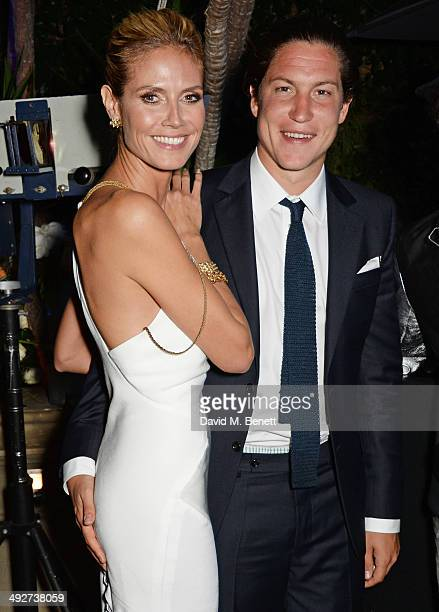 Heidi Klum and Vito Schnabel attend the welcome party for Puerto Azul Experience Night at Villa St George on May 21 2014 in Cannes France