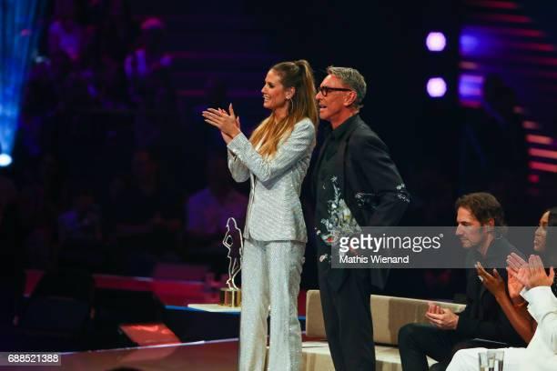 Heidi Klum and Wolfgang Joop attend the Germany's Next Topmodel Final at KoenigPilsenerARENA on May 25 2017 in Oberhausen Germany