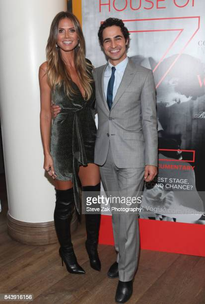 Heidi Klum and Zac Posen attend the premiere of 'House Of Z' hosted by Brooks Brothers with The Cinema Society at Crosby Street Hotel on September 7...