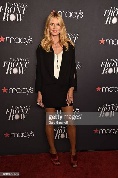 Heidi Klum appears at Macy's Presents Fashion's Front Row Arrivals at The Theater at Madison Square Garden on September 17 2015 in New York City