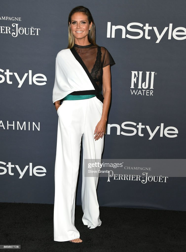 Heidi Klum arrive at the 3rd Annual InStyle Awards at The Getty Center on October 23, 2017 in Los Angeles, California.