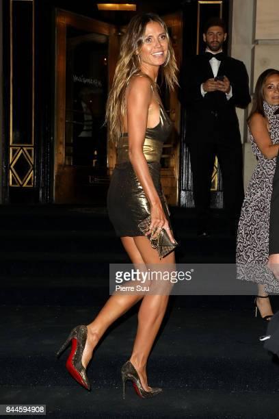 Heidi Klum arrives at Harper's BAZAAR Celebration of 'ICONS By Carine Roitfeld' at The Plaza Hotel presented by Infor Laura Mercier Stella Artois...