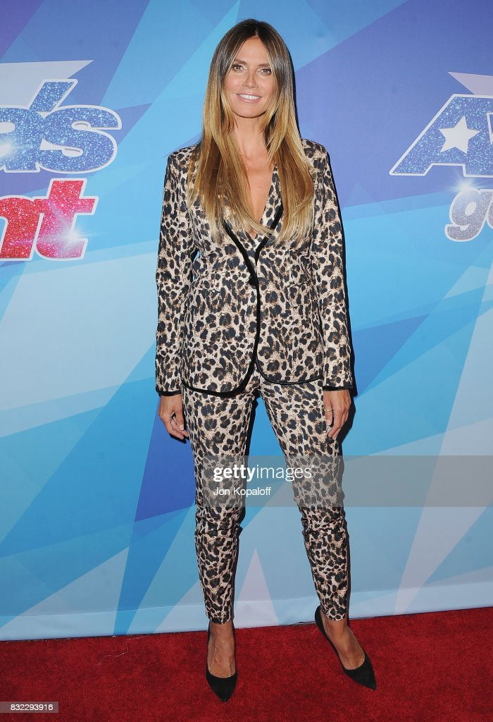 Heidi Klum arrives at NBC's 'America's Got Talent' Season 12 Live Show at Dolby Theatre on August 15, 2017 in Hollywood, California.