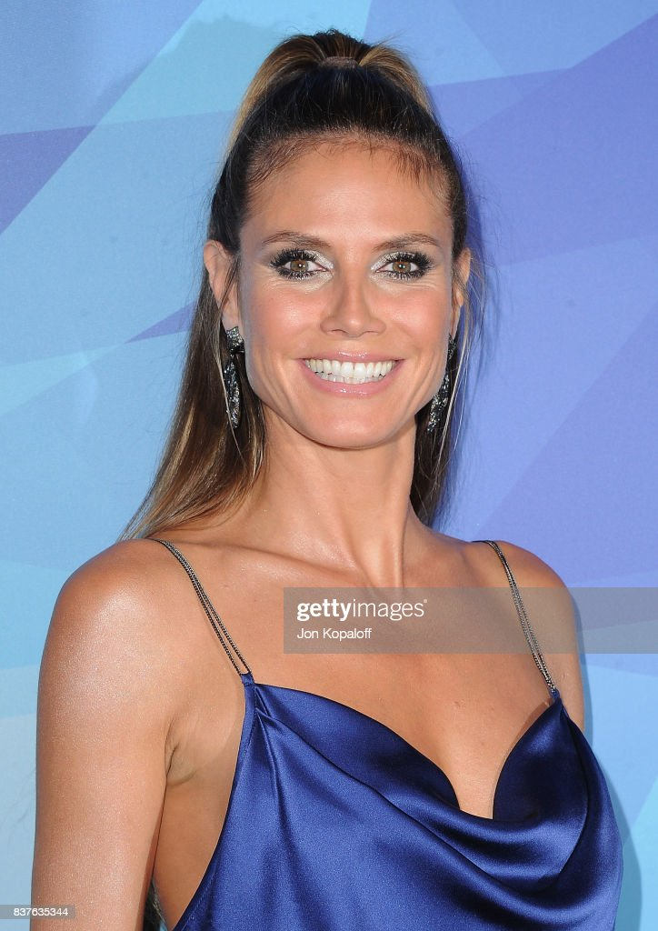 Heidi Klum arrives at NBC's 'America's Got Talent' Season 12 Live Show at Dolby Theatre on August 22, 2017 in Hollywood, California.