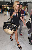 Heidi Klum arrives at Nice airport during the annual 69th Cannes Film Festival on May 20 2016 in Nice France