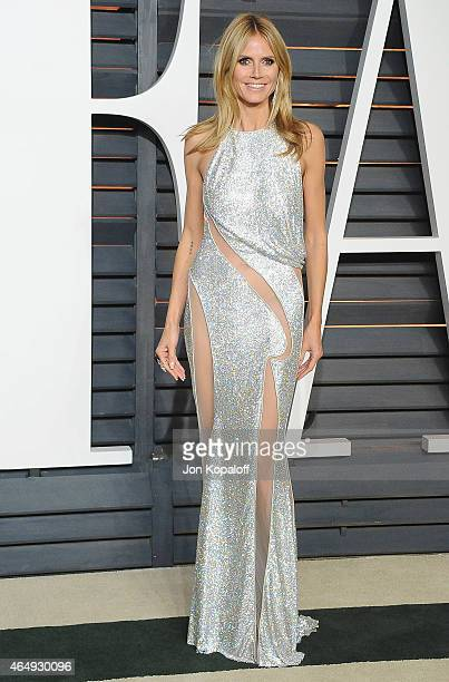 Heidi Klum arrives at the 2015 Vanity Fair Oscar Party Hosted By Graydon Carter at Wallis Annenberg Center for the Performing Arts on February 22...