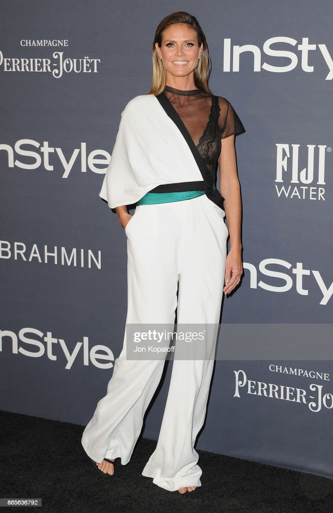 Heidi Klum arrives at the 3rd Annual InStyle Awards at The Getty Center on October 23, 2017 in Los Angeles, California.