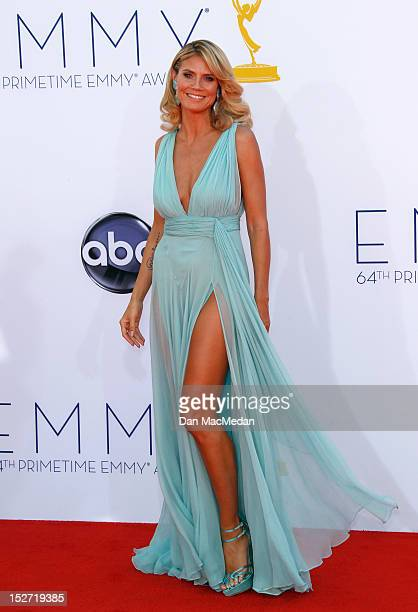 Heidi Klum arrives at the 64th Primetime Emmy Awards held at Nokia Theatre LA Live on September 23 2012 in Los Angeles California