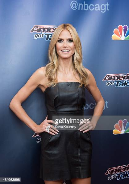 Heidi Klum arrives at the 'America's Got Talent' Season 10 Red Carpet Event at New Jersey Performing Arts Center on March 2 2015 in Newark New Jersey
