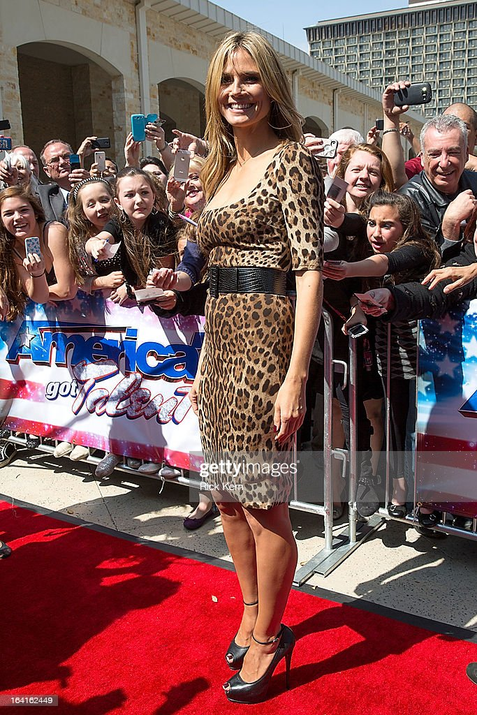 Heidi Klum arrives at the 'America's Got Talent' Season 8 auditions at the Lila Cockrell Theatre on March 20, 2013 in San Antonio, Texas.
