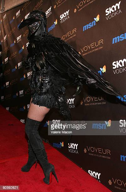 Heidi Klum arrives at the Heidi Klum's 10th Annual Halloween Party on October 31 2009 in Los Angeles California