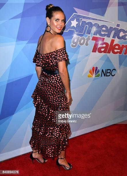 Heidi Klum arrives at the NBC's 'America's Got Talent' Season 12 Live Show at Dolby Theatre on August 29 2017 in Hollywood California