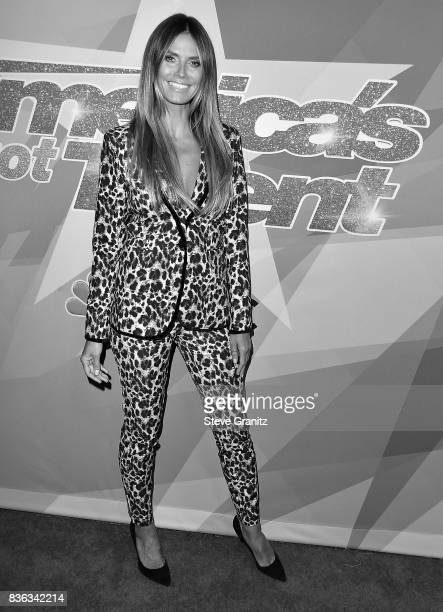 Heidi Klum arrives at the Premiere Of NBC's 'America's Got Talent' Season 12 at Dolby Theatre on August 15 2017 in Hollywood California