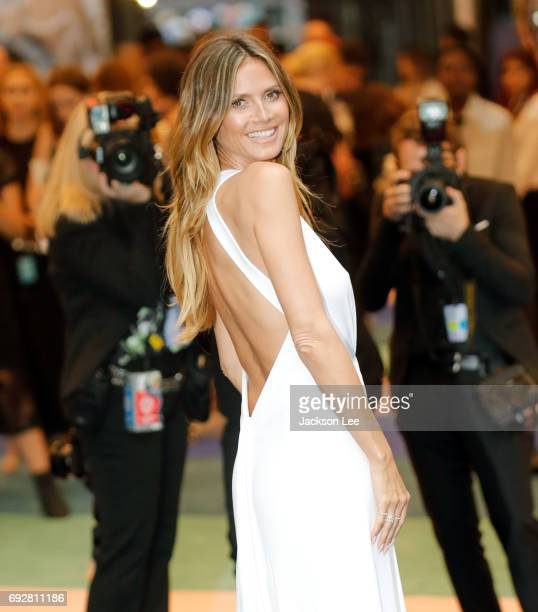 Heidi Klum at the outside arrivals of the 2017 CFDA awards at Hammerstein Ballroom in New York on June 5 2017 in New York City
