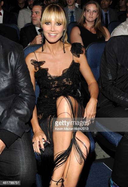 Heidi Klum attends 2013 American Music Awards at Nokia Theatre LA Live on November 24 2013 in Los Angeles California