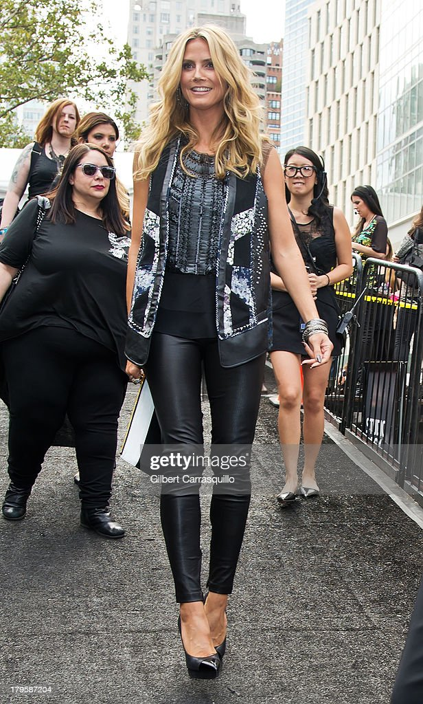 Heidi Klum attends 2014 Mercedes-Benz Fashion Week during day 1 on September 5, 2013 in New York City.