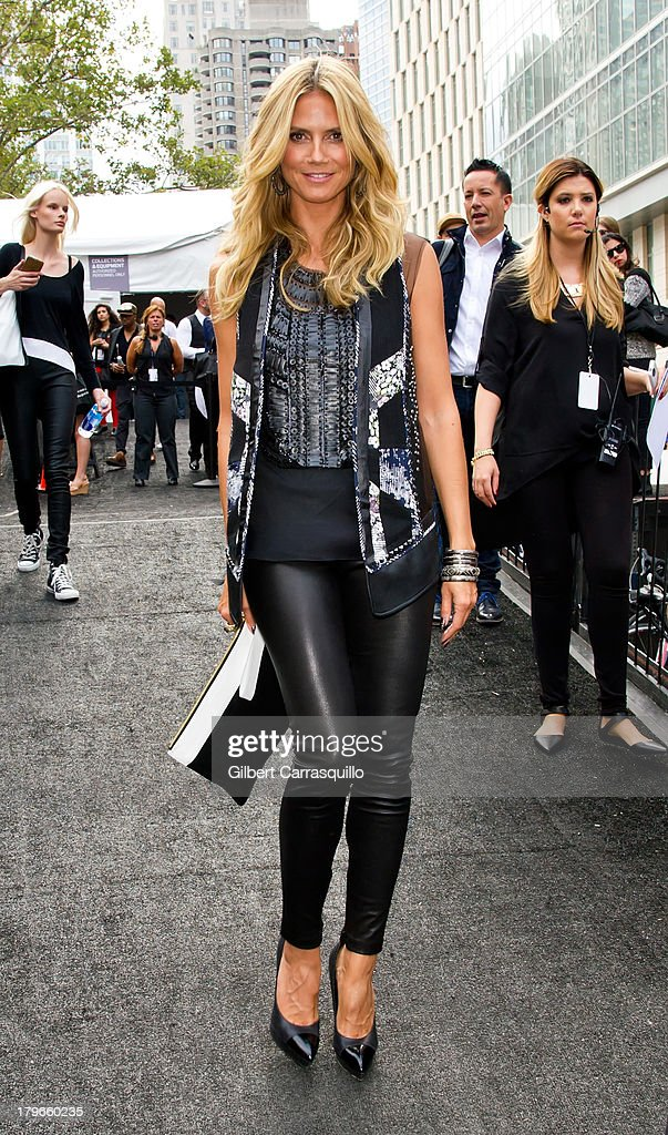 <a gi-track='captionPersonalityLinkClicked' href=/galleries/search?phrase=Heidi+Klum&family=editorial&specificpeople=178954 ng-click='$event.stopPropagation()'>Heidi Klum</a> attends 2014 Mercedes-Benz Fashion Week during day 1 on September 5, 2013 in New York City.