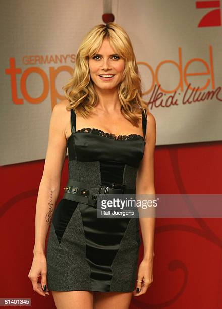 Heidi Klum attends a photocall for PRO7 TV show 'Germanys Next Topmodel' on June 04 2008 at Cologne Germany