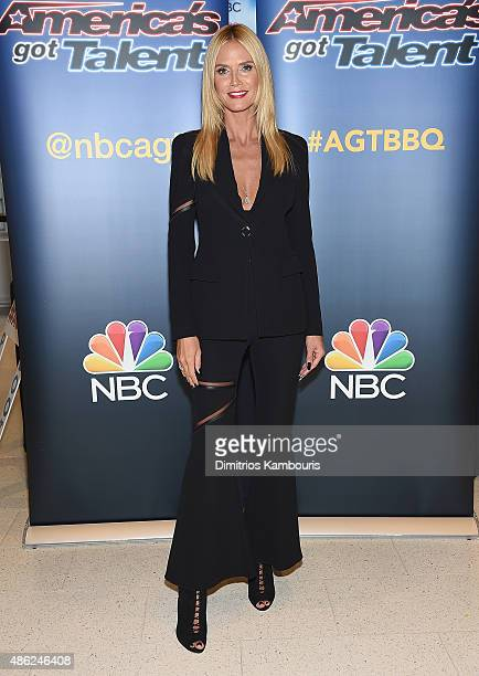 Heidi Klum attends 'America's Got Talent' Season 10 Live Viewing Party on September 2 2015 in New York City