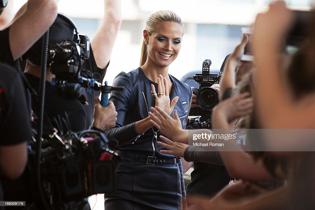 Heidi Klum attends 'America's Got Talent' Season 8 Meet The Judges Red Carpet Event at Akoo Theatre at Rosemont on May 8, 2013 in Rosemont, Illinois.