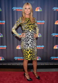 Heidi Klum attends 'Americas Got Talent' Season 8 PreShow Red Carpet Event on July 23 2013 in New York United States