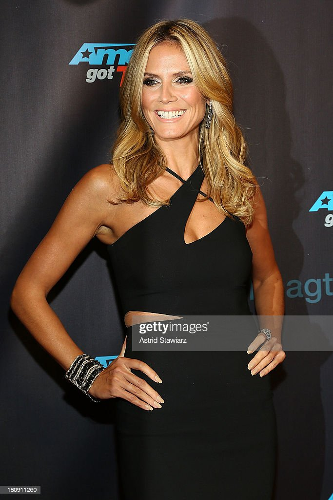 Heidi Klum attends 'America's Got Talent' Season 8 Pre-Show Red Carpet Event at Radio City Music Hall on September 17, 2013 in New York City.