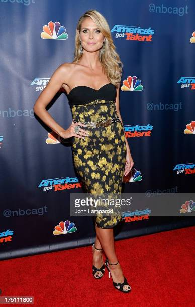 Heidi Klum attends 'America's Got Talent' Season 8 Red Carpet Event at Radio City Music Hall on July 31 2013 in New York City