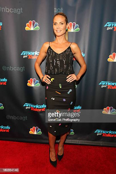 Heidi Klum attends 'America's Got Talent' Season 8 Red Carpet Event at Radio City Music Hall on September 11 2013 in New York City