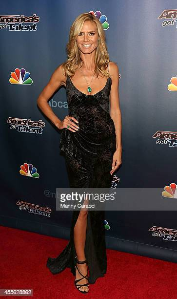 Heidi Klum attends 'America's Got Talent' season 9 finale red carpet event at Radio City Music Hall on September 17 2014 in New York City