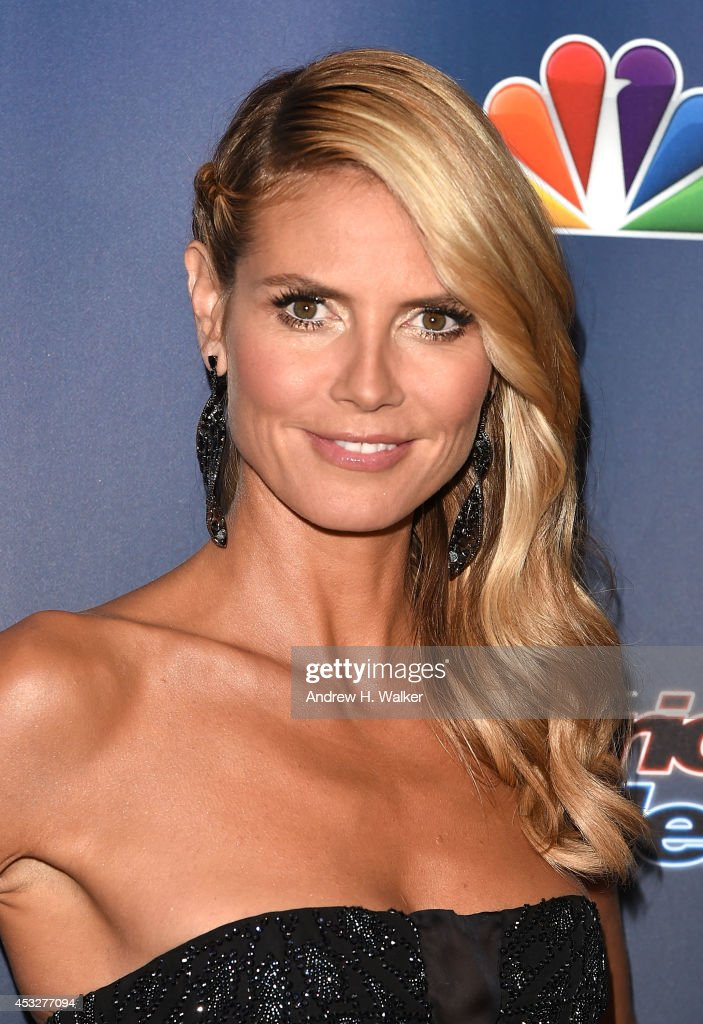 <a gi-track='captionPersonalityLinkClicked' href=/galleries/search?phrase=Heidi+Klum&family=editorial&specificpeople=178954 ng-click='$event.stopPropagation()'>Heidi Klum</a> attends 'America's Got Talent' season 9 post show red carpet event at Radio City Music Hall on August 6, 2014 in New York City.