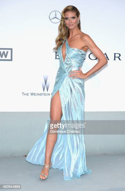 Heidi Klum attends amfAR's 21st Cinema Against AIDS Gala Presented By WORLDVIEW BOLD FILMS And BVLGARI at Hotel du CapEdenRoc on May 22 2014 in Cap...