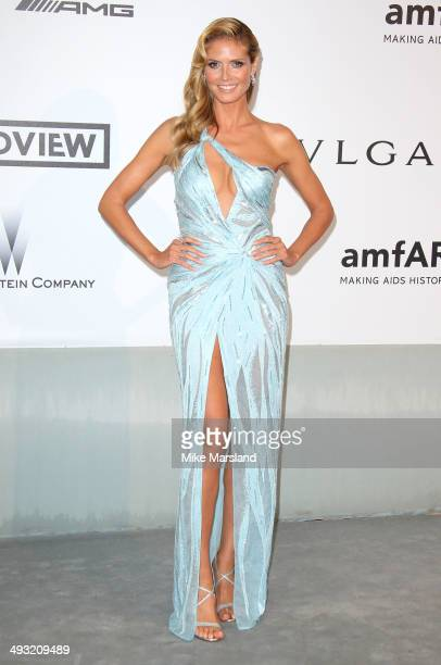 Heidi Klum attends amfAR's 21st Cinema Against AIDS Gala Presented By WORLDVIEW BOLD FILMS And BVLGARI at the 67th Annual Cannes Film Festival on May...