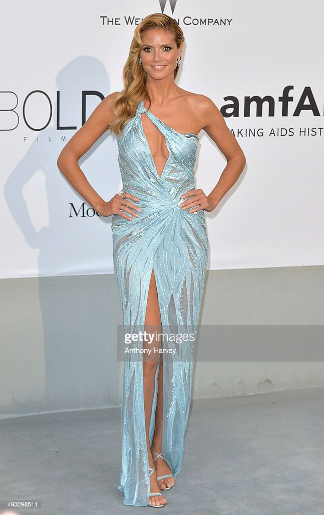 Heidi Klum attends amfAR's 21st Cinema Against AIDS Gala, Presented By WORLDVIEW, BOLD FILMS, And BVLGARI at the 67th Annual Cannes Film Festival on May 22, 2014 in Cap d'Antibes, France.