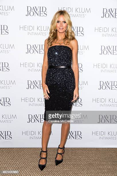Heidi Klum attends an intimate dinner for Heidi Klum Intimates hosted by David Jones at Guillaume Sydney Australia on January 28 2015 in Sydney...