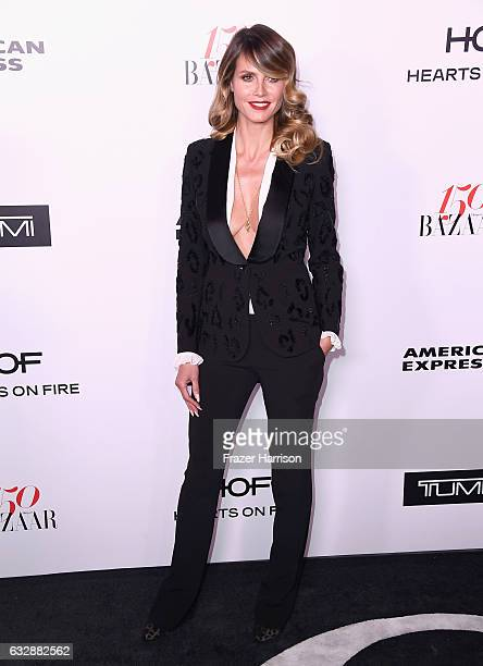 Heidi Klum attends Harper's BAZAAR celebration of the 150 Most Fashionable Women presented by TUMI in partnership with American Express La Perla and...