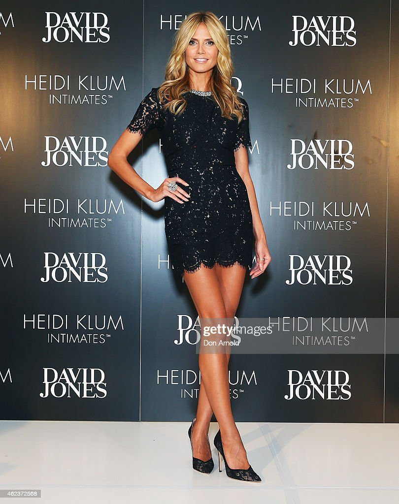<a gi-track='captionPersonalityLinkClicked' href=/galleries/search?phrase=Heidi+Klum&family=editorial&specificpeople=178954 ng-click='$event.stopPropagation()'>Heidi Klum</a> attends her Intimates Collection Launch At David Jones Castlereagh St store on January 28, 2015 in Sydney, Australia.