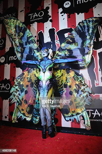 Heidi Klum attends Moto X presents Heidi Klum's 15th Annual Halloween Party sponsored by SVEDKA Vodka at TAO Downtown on October 31 2014 in New York...