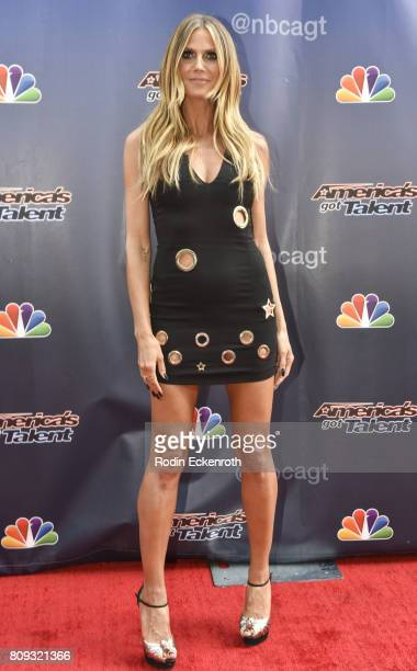 Heidi Klum attends NBC's 'America's Got Talent' Judge Cut Rounds at NBC Universal Lot on April 27 2017 in Universal City California