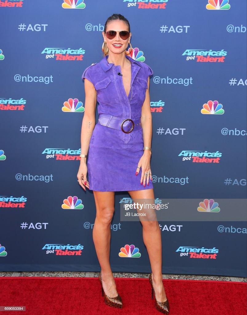 Americas got talent 2017 nz - Heidi Klum Attends Nbc S America S Got Talent Season 12 Kickoff On March 27