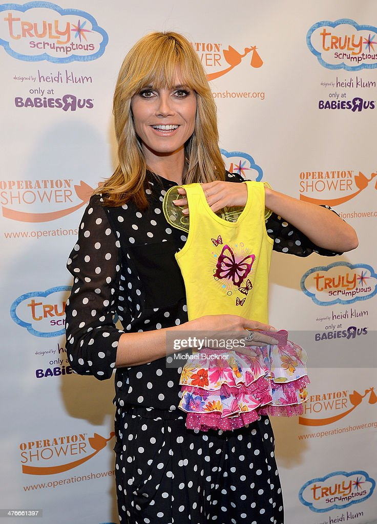 Heidi Klum attends Operation Shower sponsored by Babies'R'Us event hosted by Heidi Klum at The Globe Theatre at Universal Studios on March 4 2014 in...