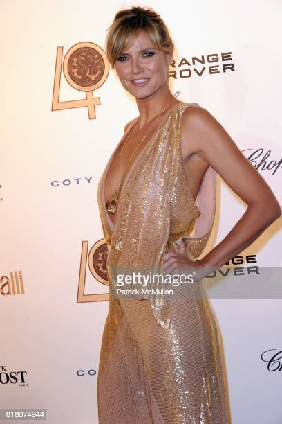 Heidi Klum attends ROBERTO CAVALLI 40th Anniversary Event CONTACT SIPA PRESS FOR SALES at Les BeauxArts de Paris on September 29 2010 in Paris France