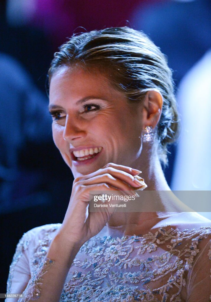 <a gi-track='captionPersonalityLinkClicked' href=/galleries/search?phrase=Heidi+Klum&family=editorial&specificpeople=178954 ng-click='$event.stopPropagation()'>Heidi Klum</a> attends the 2012 amfAR's Cinema Against AIDS during the 65th Annual Cannes Film Festival at Hotel Du Cap on May 24, 2012 in Cap D'Antibes, France.