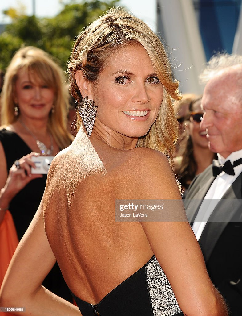 <a gi-track='captionPersonalityLinkClicked' href=/galleries/search?phrase=Heidi+Klum&family=editorial&specificpeople=178954 ng-click='$event.stopPropagation()'>Heidi Klum</a> attends the 2013 Creative Arts Emmy Awards at Nokia Theatre L.A. Live on September 15, 2013 in Los Angeles, California.