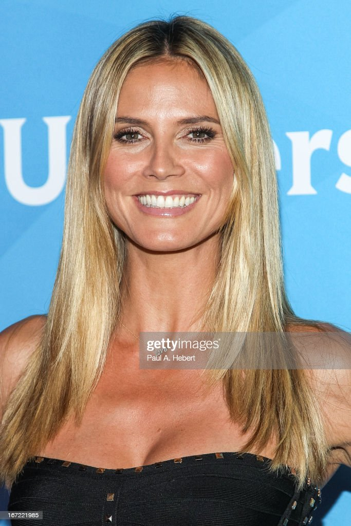 <a gi-track='captionPersonalityLinkClicked' href=/galleries/search?phrase=Heidi+Klum&family=editorial&specificpeople=178954 ng-click='$event.stopPropagation()'>Heidi Klum</a> attends the 2013 NBCUniversal Summer Press Day held at The Langham Huntington Hotel and Spa on April 22, 2013 in Pasadena, California.