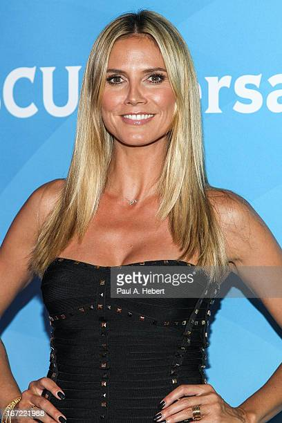 Heidi Klum attends the 2013 NBCUniversal Summer Press Day held at The Langham Huntington Hotel and Spa on April 22 2013 in Pasadena California