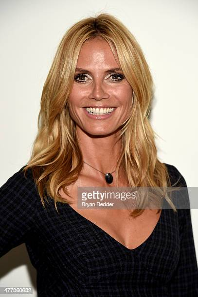 Heidi Klum attends the 2015 amfAR Inspiration Gala New York at Spring Studios on June 16 2015 in New York City